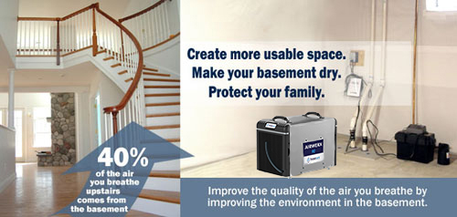 How dehumidifier works in the basement